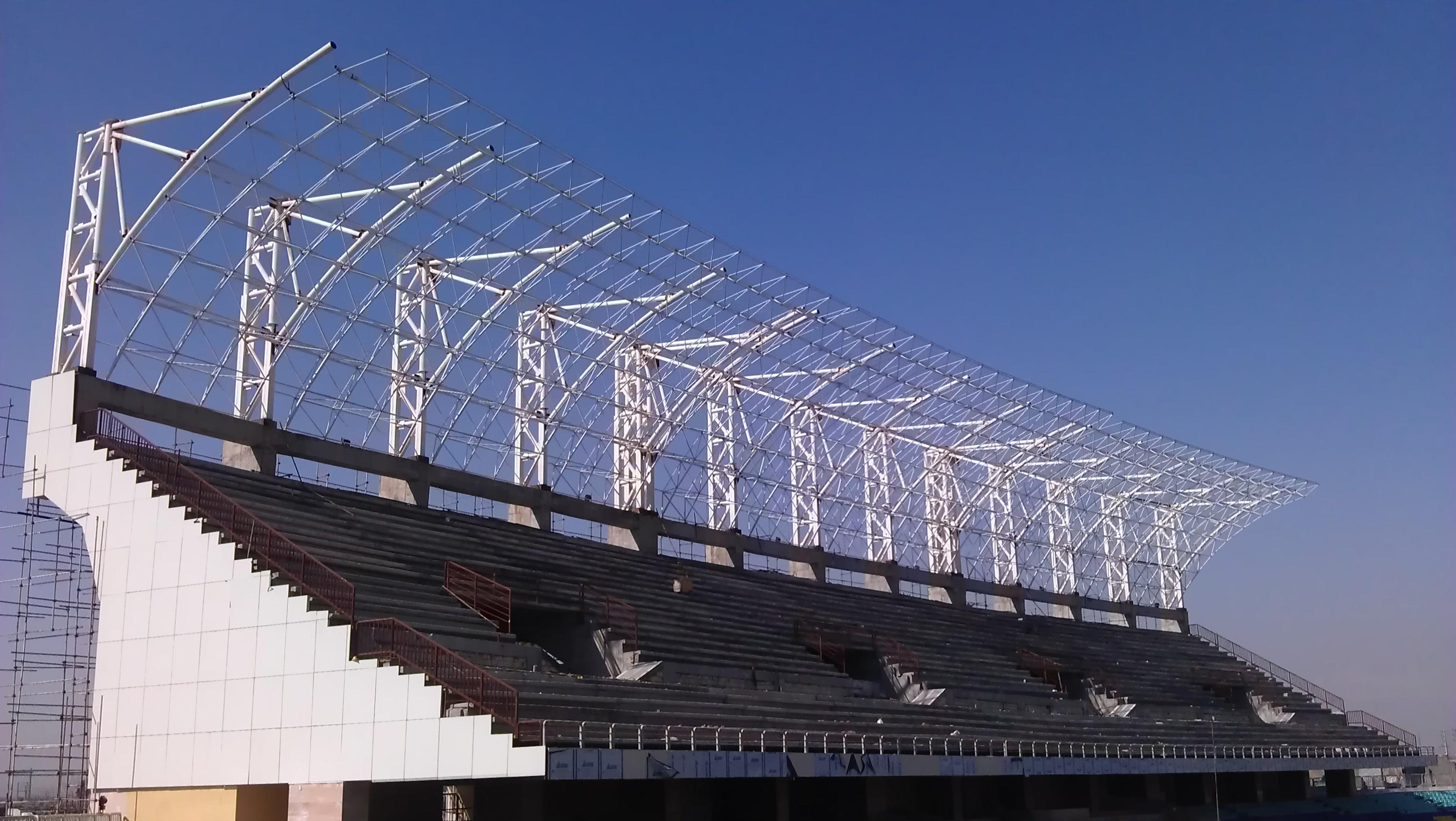 سازه تدبیران | تولیدکننده انواع سازه های فضاکارKazemi martyr football stadium